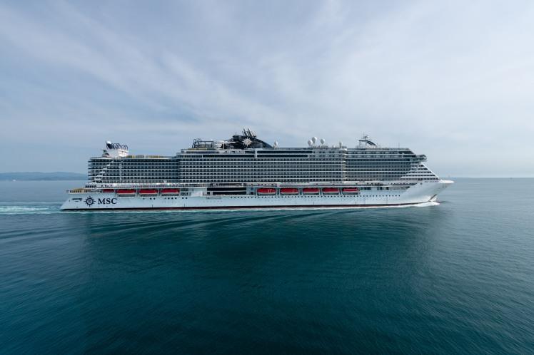 MSC Seaview gets her first taste of the Mediterranean during sea trials (3)