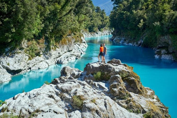 Hokitika Gorge, en la Costa Oeste de Nueva Zelanda