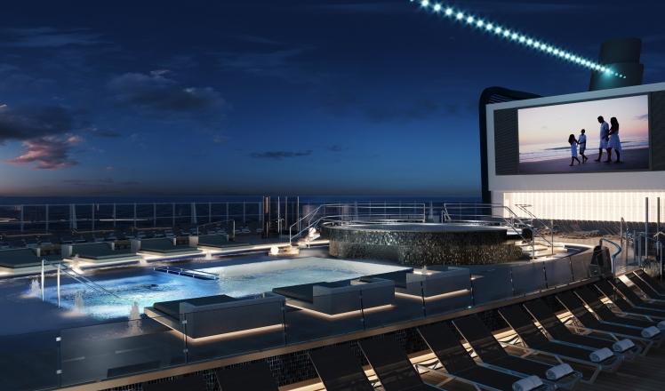 MSC Seashore Main Pool
